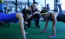 training women doing pushups A Lifetime of Motivation